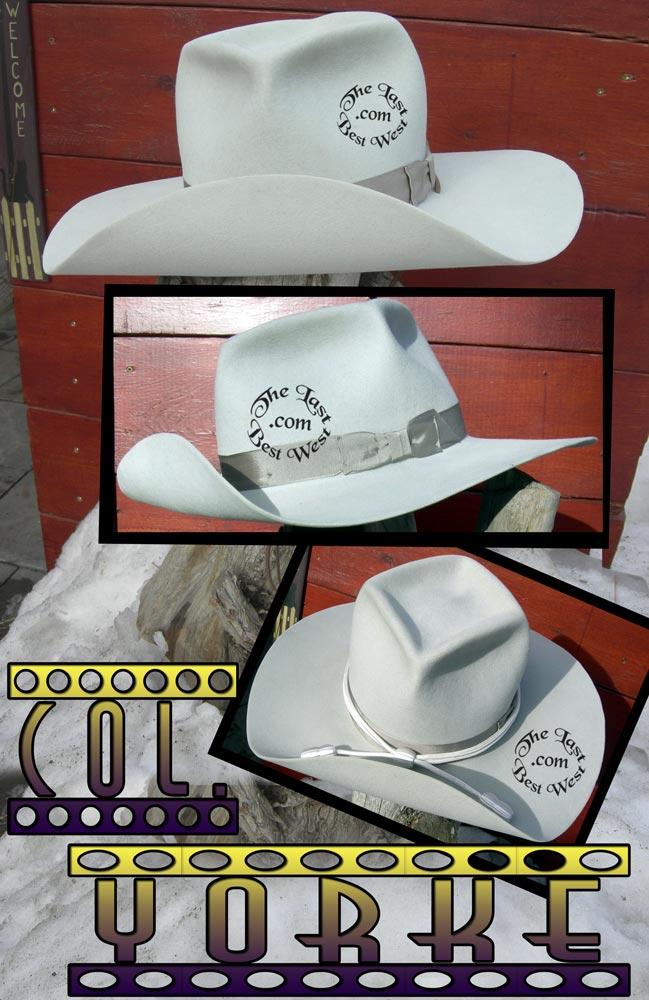 Col. Yorke Old West Cavalry Hat