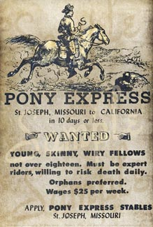 Pony Express Recruitment Poster