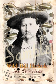 Cowboy Pictues Wild Bill Hickok Poster