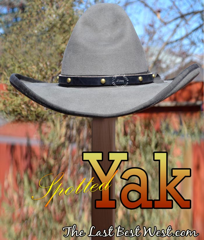 Spotted Yak leather Hat Band