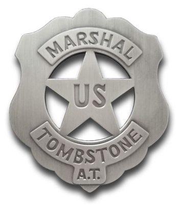 U.S. Marshal Tombstone Badge