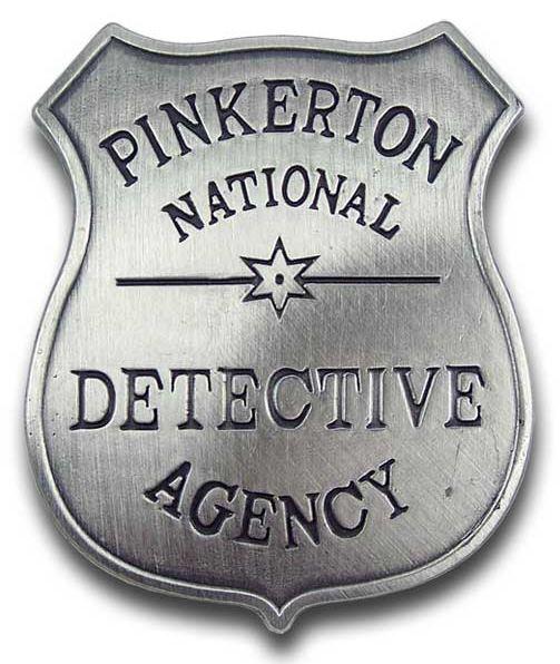 Pinkerton Detective Agency Badge