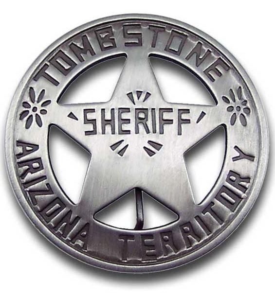 Sheriff Tombstone Badge