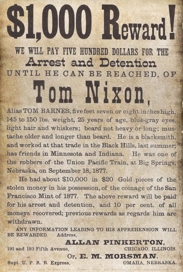 Pinkerton Circular for Tom Nixon