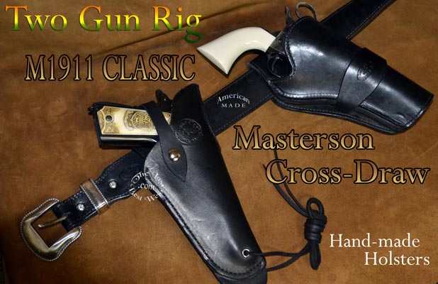 Two Handmade Leather Holsters